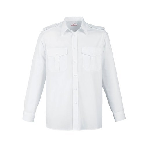 Greiff Classixx Herren Pilothemd 6602 langarm (43/44 – XL, weiß)