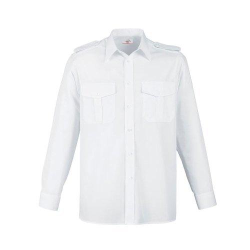 Greiff Classixx Herren Pilothemd 6602 langarm (39/40 – M, weiß)