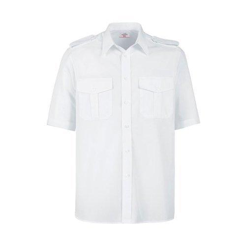 Greiff Classixx Herren Pilothemd 6603 kurzarm (43/44 – XL, weiß)