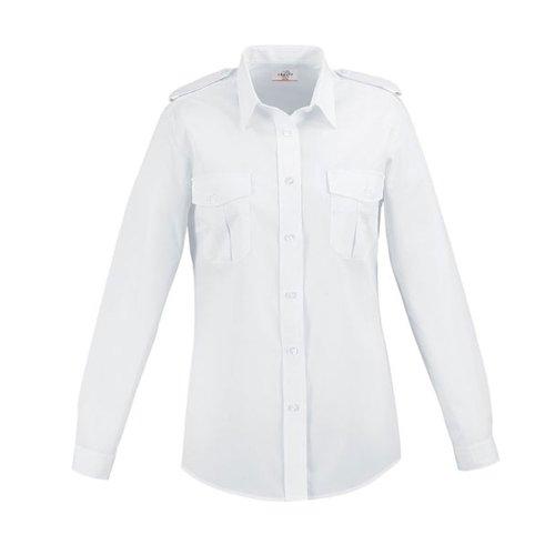Greiff Classixx Damen Pilothemd Bluse 6657 langarm (44, weiß)