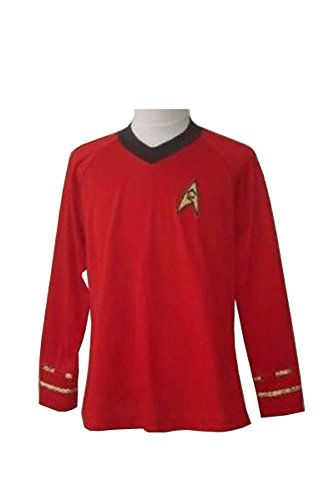 Star Trek TOS Engineering Red Hemd Uniform Cosplay Kostüm Herren L