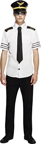 Fever, Herren Mile High Kostüm, Mütze, Hemd und Schlips, Größe: M, 31871