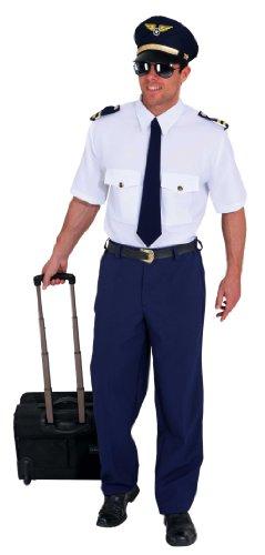 Pilot : Hemd, Krawatte und Hose, Erwachsenen-Größe:46/48