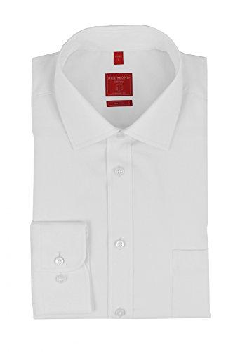 Redmond – Regular Fit – Herren Langarm Hemd in verschiedenen Farben, Bügelfrei (150300), Größe:XL;Farbe:Weiß(0)