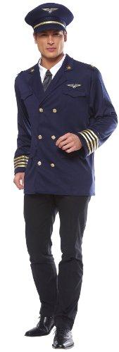 Smartes Piloten Kostüm! 3 Teile! Mütze Hemd Jacke
