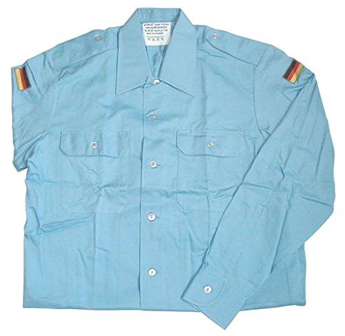 Originales langärmliges Bordhemd der Deutschen Marine Farbe Pastellblau Größen 2-7 (3 (39/40))