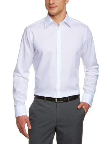 Schwarze Rose Herren Slim Fit Business Hemd 21000, Gr. 42 CM (L), Weiß (Weiß 01)