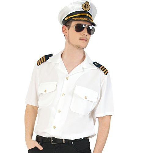 Pilot Hemd, versch. Größen, Kurze Arme, Top Quallität (X-Large)