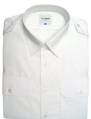 Olymp Pilotenhemd weiss Kentkragen in kurzarm (12cm), Größe 47 – 3XL