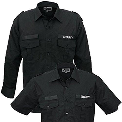 CI Security Diensthemd langarm oder kurzarm Securityhemd Herrenhemd Damenhemd Schwarz Gr. S-3XL (S, Kurzarm)