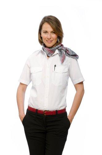 Nordhandel Pilotenhemd Kurzarm Abnehmbar Damen Weiß Größe 40