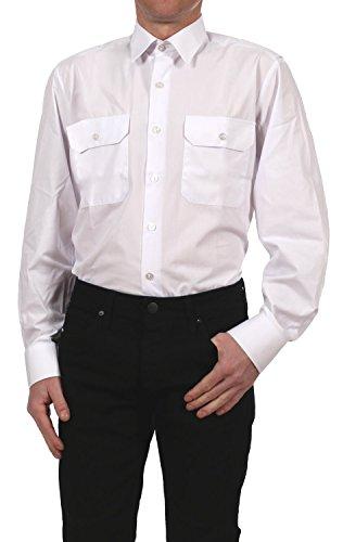 Petermann Pilotenhemd / Oberhemd / Diensthemd Feuerwehr 1039181-1 langarm in weiß, Kragenweite:44