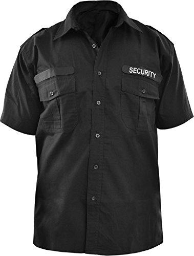 Security Dienst Hemd in kurz und langarm und zusätzlichem Patch Farbe Kurzarm Größe XXL