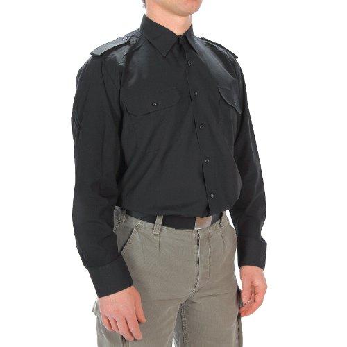 Diensthemd Langarm schwarz, Größe:XL