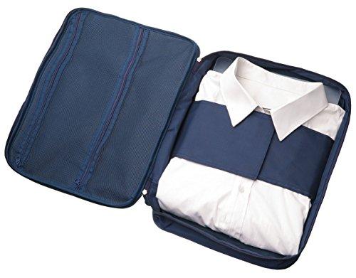 Hemdentasche für knitterfreie Hemden auf Reisen, ideal für Transport in Koffer, Reisetasche oder Handgepäck, blau