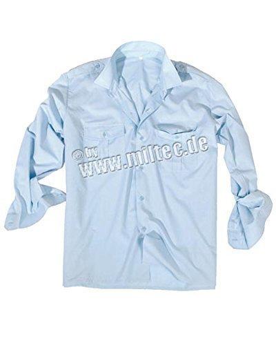 Diensthemd 1/1 Arm T/C hellblau, Größe:M
