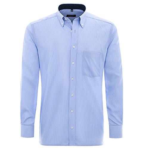 Eterna Herrenhemd Langarm Modern Fit Blau Freizeithemd Businesshemd Hemd Hemden Kariert Bürohemd Cityhemd Gr. L/42