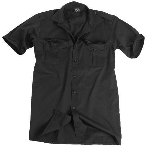 Diensthemd kurzarm schwarz, Größe:XL