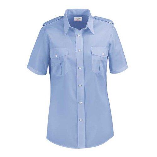 Greiff Classixx Damen Pilothemd Bluse 6658 kurzarm (48, bleu)