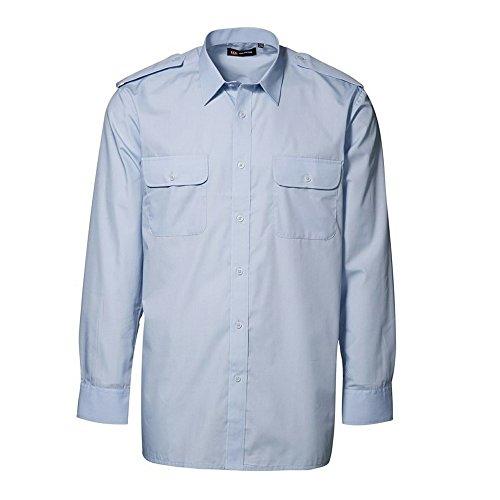 ID Herren Classic Uniform-Hemd, langärmlig (41/42) (Hellblau)