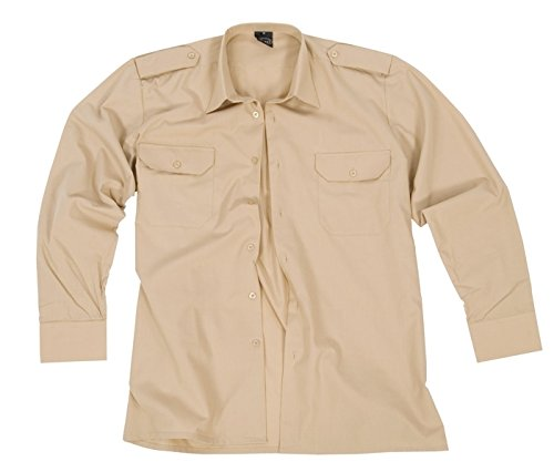 Diensthemd 1/1 Arm T/C khaki XL