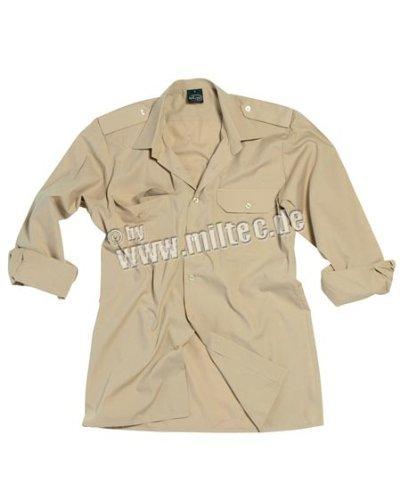 Diensthemd 1/1 Arm T/C khaki XXL
