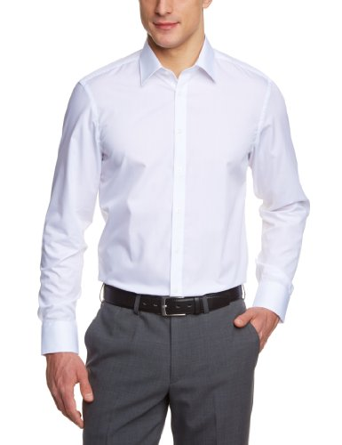 Venti Herren Businesshemd Slim Fit 001480/0, Gr. 42, Weiß (0 weiß)