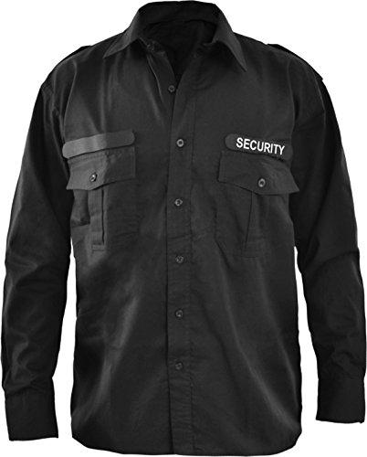 Security Dienst Hemd in kurz und langarm und zusätzlichem Patch Farbe Langarm Größe 3XL
