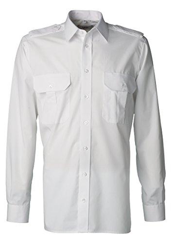 Cubani Pilotenhemd Langarm weiß Kent, Größe: XL