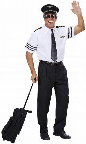 Widmann 74802 – Piloten-Set, Hemd, Mütze und Krawatte, Größe M