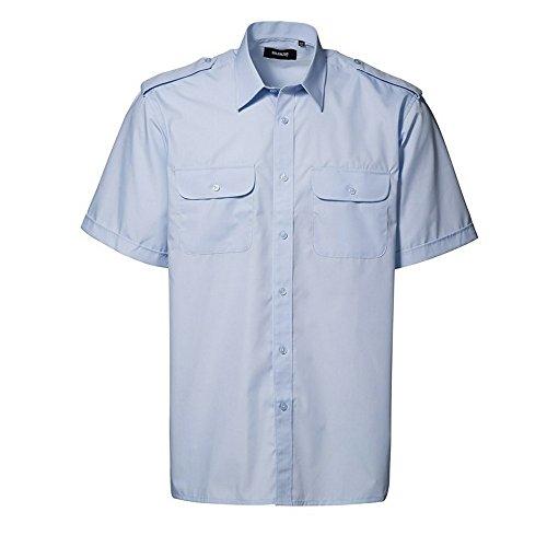 ID Herren Uniform-Hemd, kurzärmlig (43/44) (Hellblau)