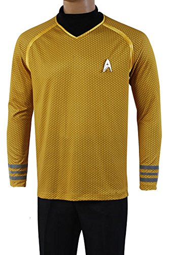 Fuman Star Trek Uniform Captain Kirk Shirt Cosplay Kostüm Gelb XXXL