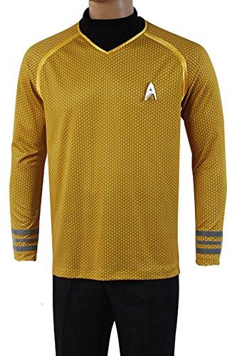 Fuman Star Trek Uniform Captain Kirk Shirt Cosplay Kostüm Gelb M