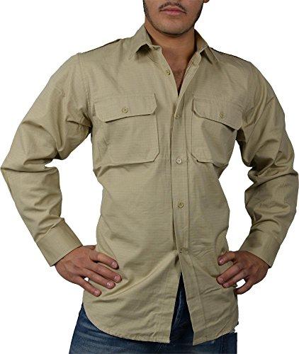 Tropenhemd Deserthemd Diensthemd Safarihemd Langarm Größe XL
