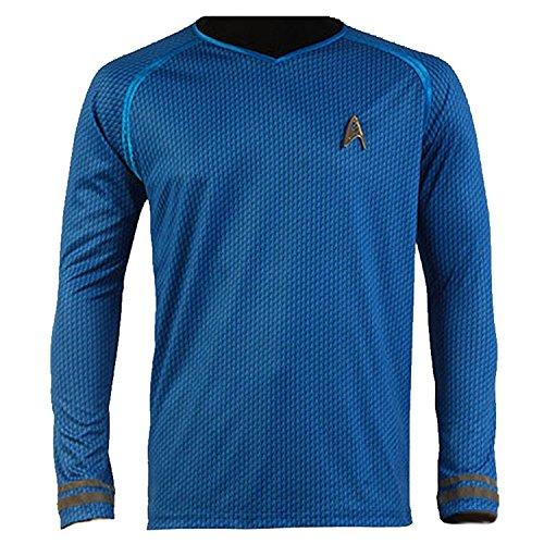 Cosdaddy / Star Trek Into Darkness Captain Blau Kirk Hemd Uniform Cosplay Kostüm (M)