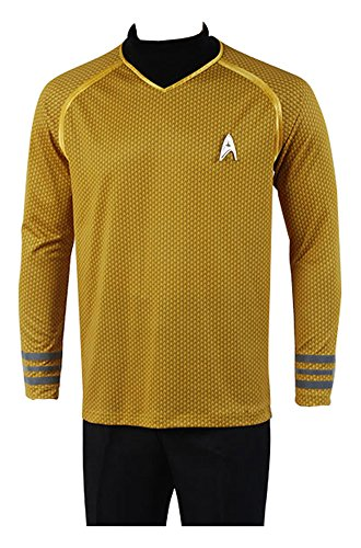 Star Trek Into Darkness Captain Kirk Hemd Shirt Uniform Cosplay Kostuem Gelb