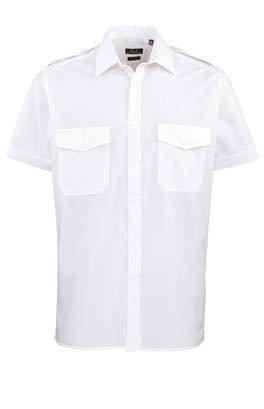 Kurzarm Security- / Piloten-Hemd mit Brusttaschen