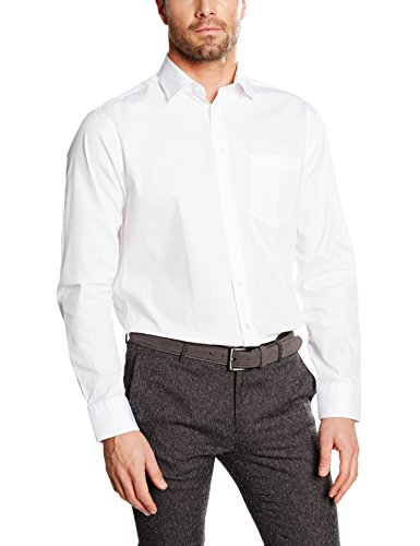 Redford Herren Business Hemd Regular Fit, Weiß