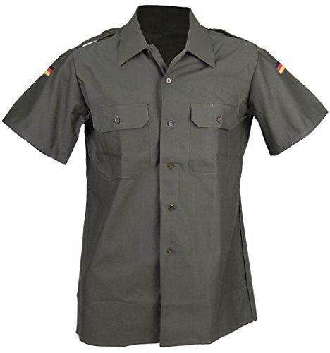 Kurzärmliges Feldhemd der Deutschen Bundeswehr in Importqualität Securityhemd Farbe Steingrau-Oliv