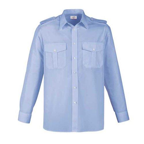 Greiff Classixx Herren Pilothemd 6602 langarm (43/44 – XL, bleu)